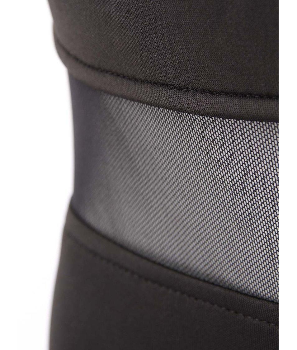Černé šaty s průhlednými pruhy AX Paris