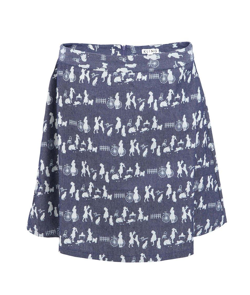 Džínová sukně s potiskem Kling Accrington