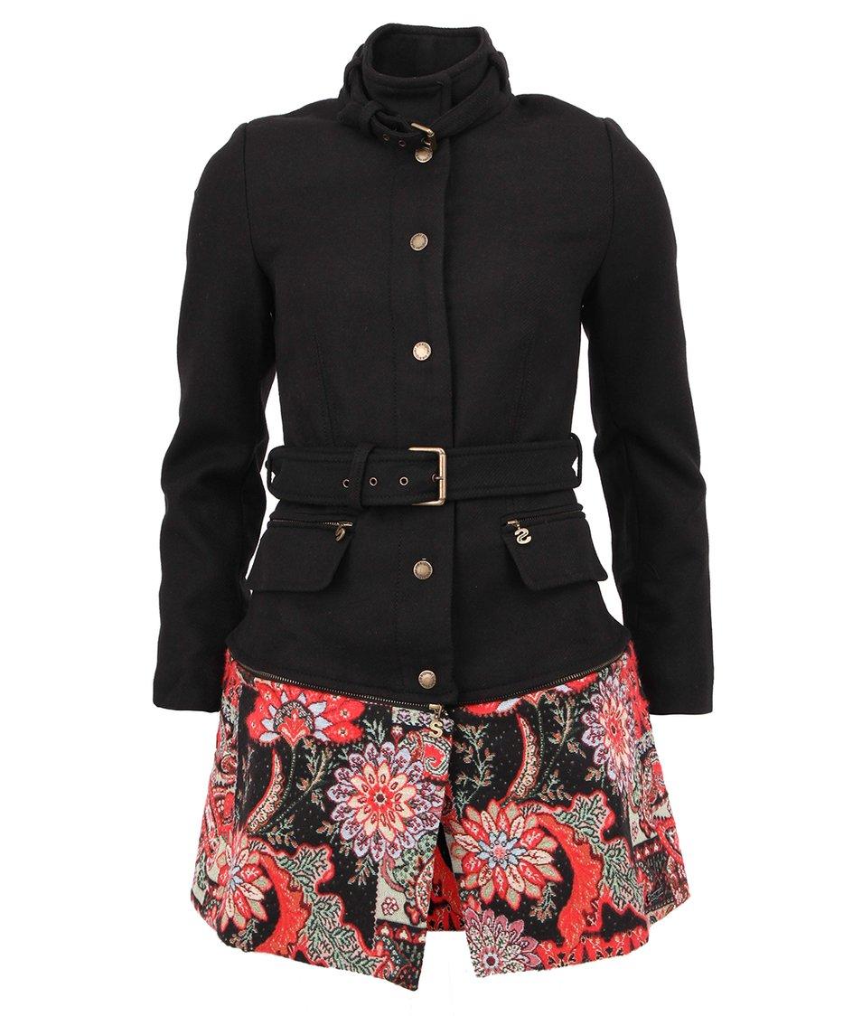 Černý dámský kabát/sako s odepínací spodní částí Desigual Natalia