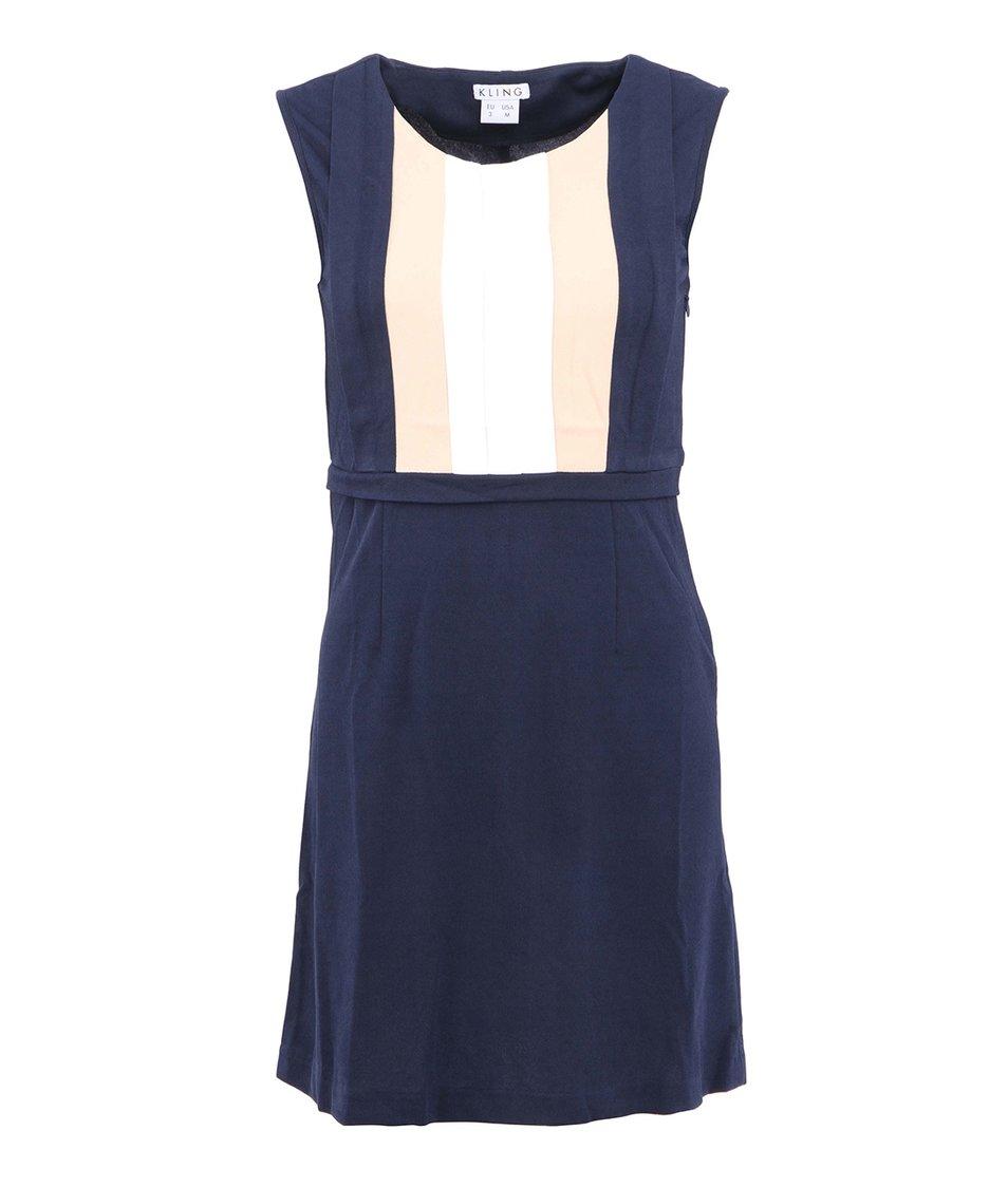 Modro-bílé šaty Kling Sorolla