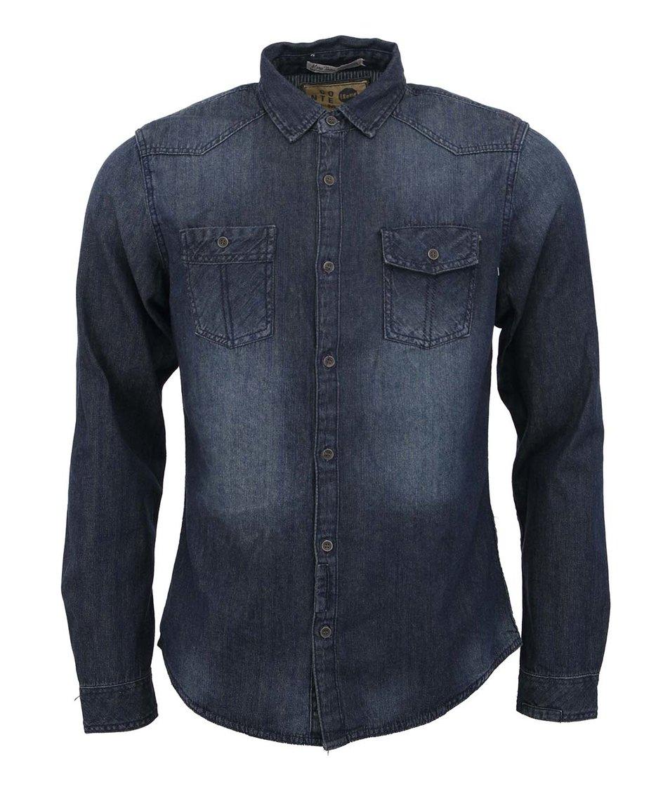 Džínová košile se sepraným efektem !Solid Jered