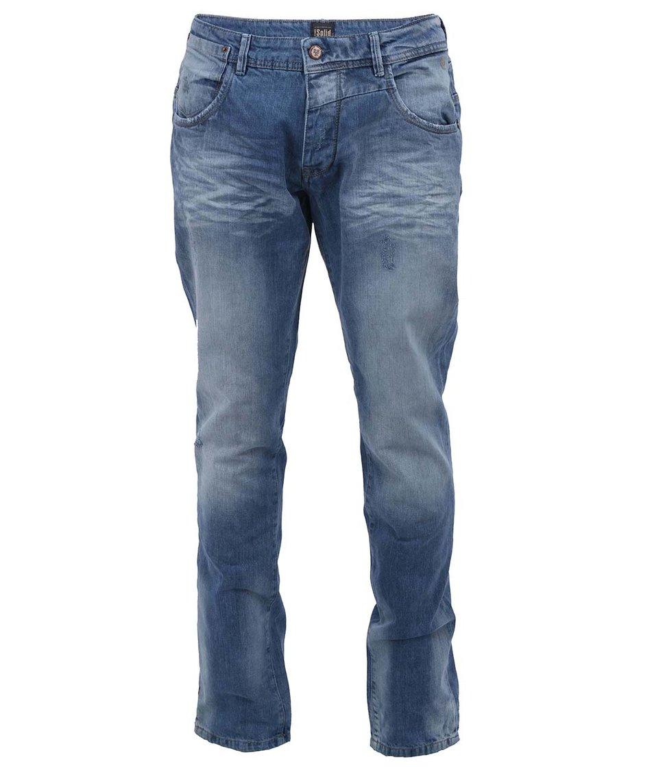 Modré vyšisované džíny !Solid Ray