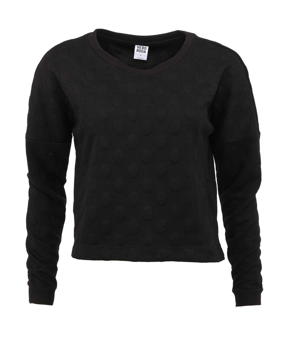 Černá mikina s puntíky Vero Moda Manjo