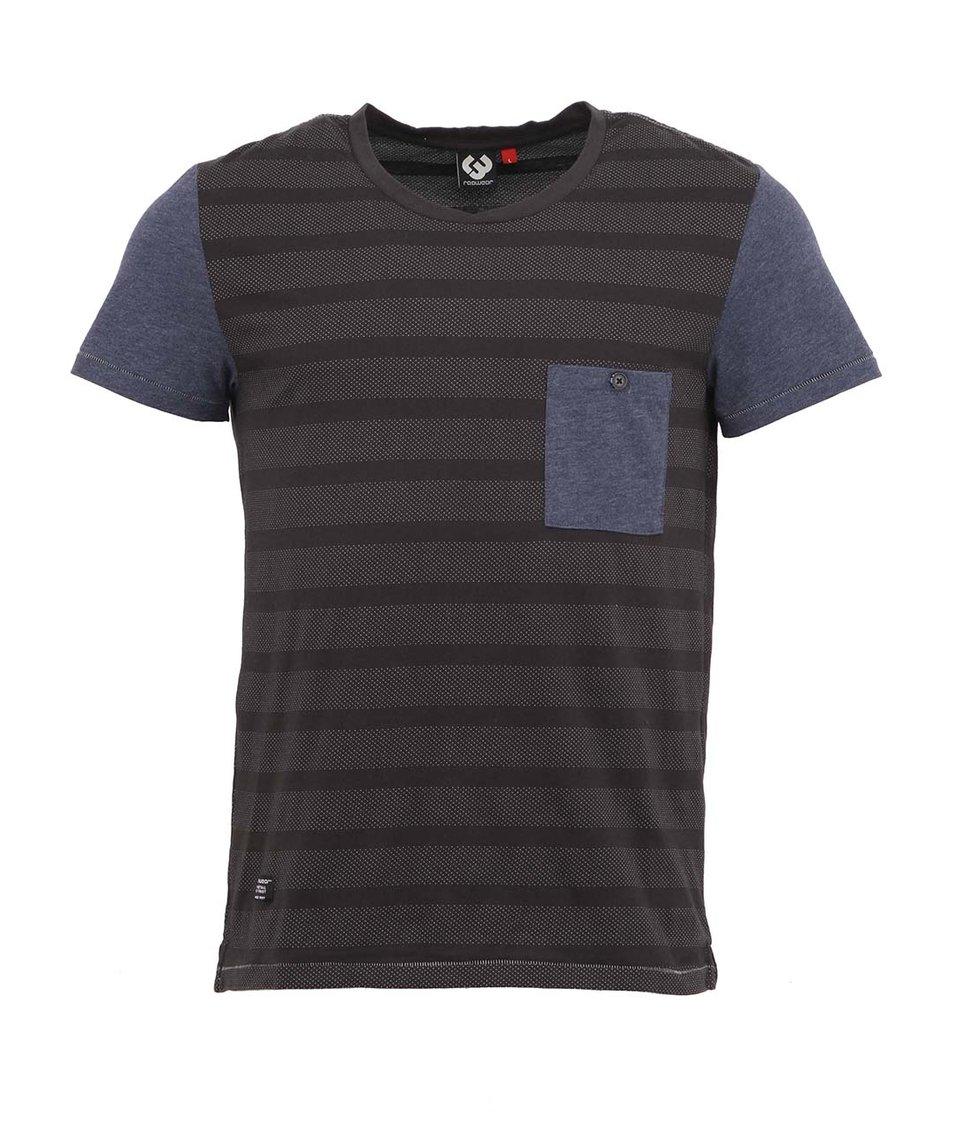Modro-šedé pánské triko Ragwear Franky