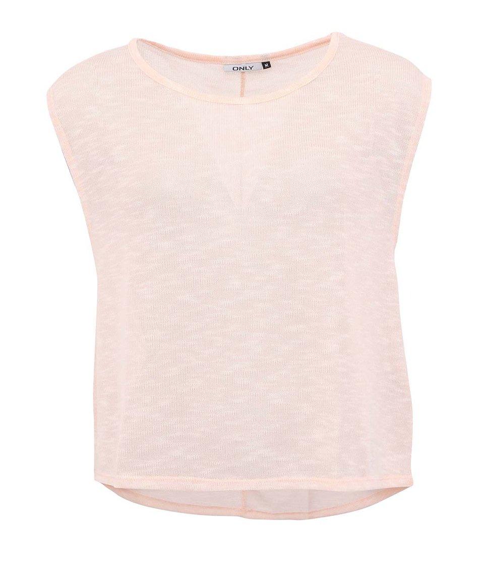 Meruňkové volnější tričko Only Misty