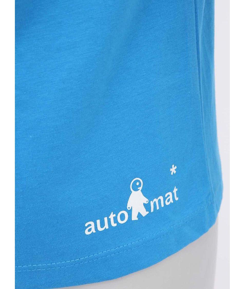 """""""Dobré"""" azurově modré dámské triko Zažít město jinak"""