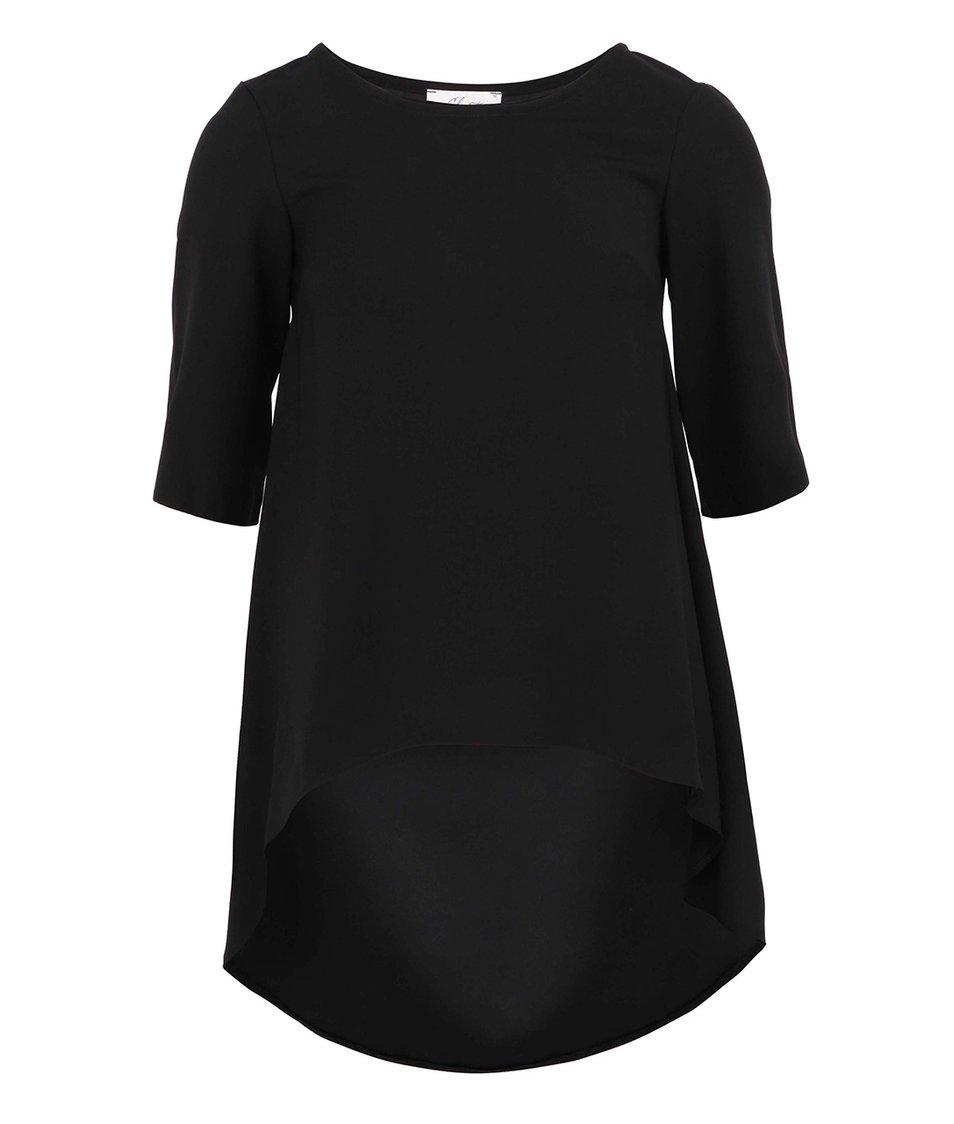 Černá asymetrická tunika Closet
