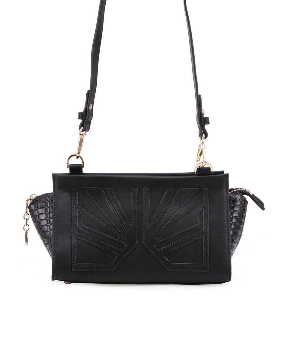 Černá malá kabelka s ozdobným prošíváním Anna Smith