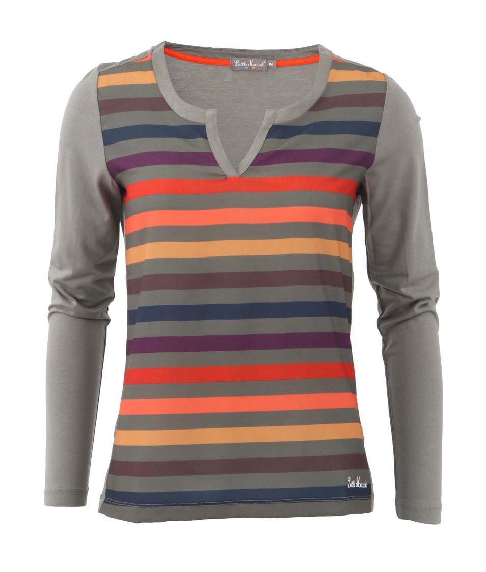 Šedé dámské pruhované triko Little Marcel Tica