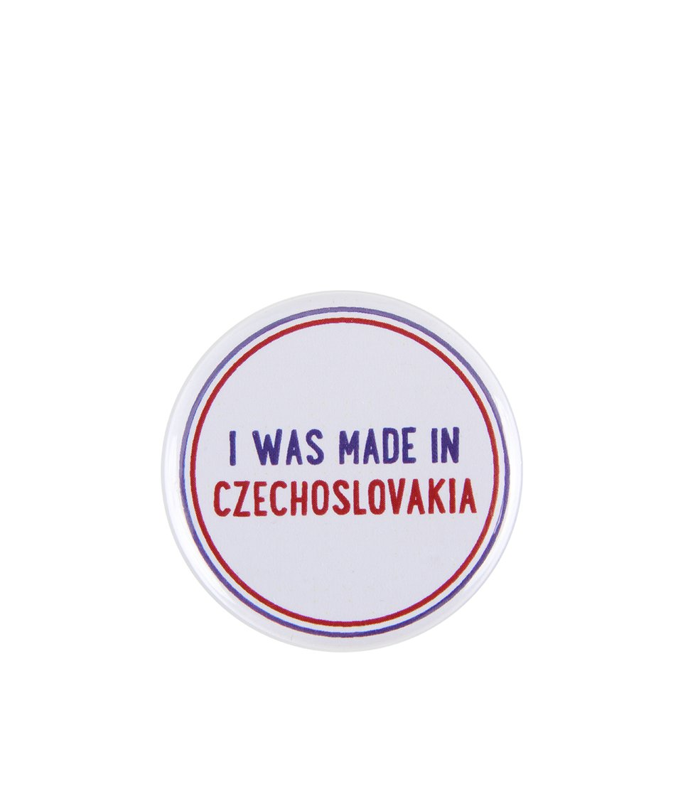 Bílá placka ZOOT Originál I Was Made in Czechoslovakia