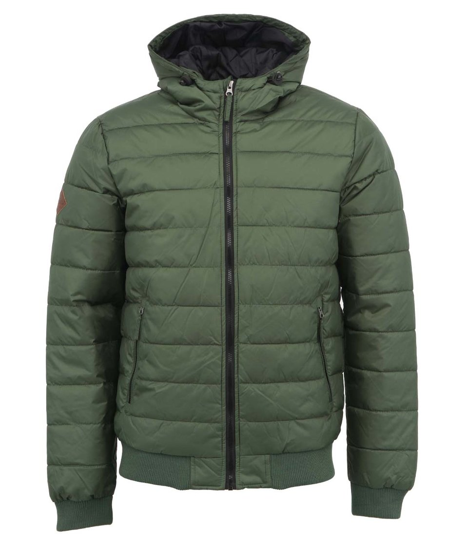 Zelená bunda s kapucí Shine Original