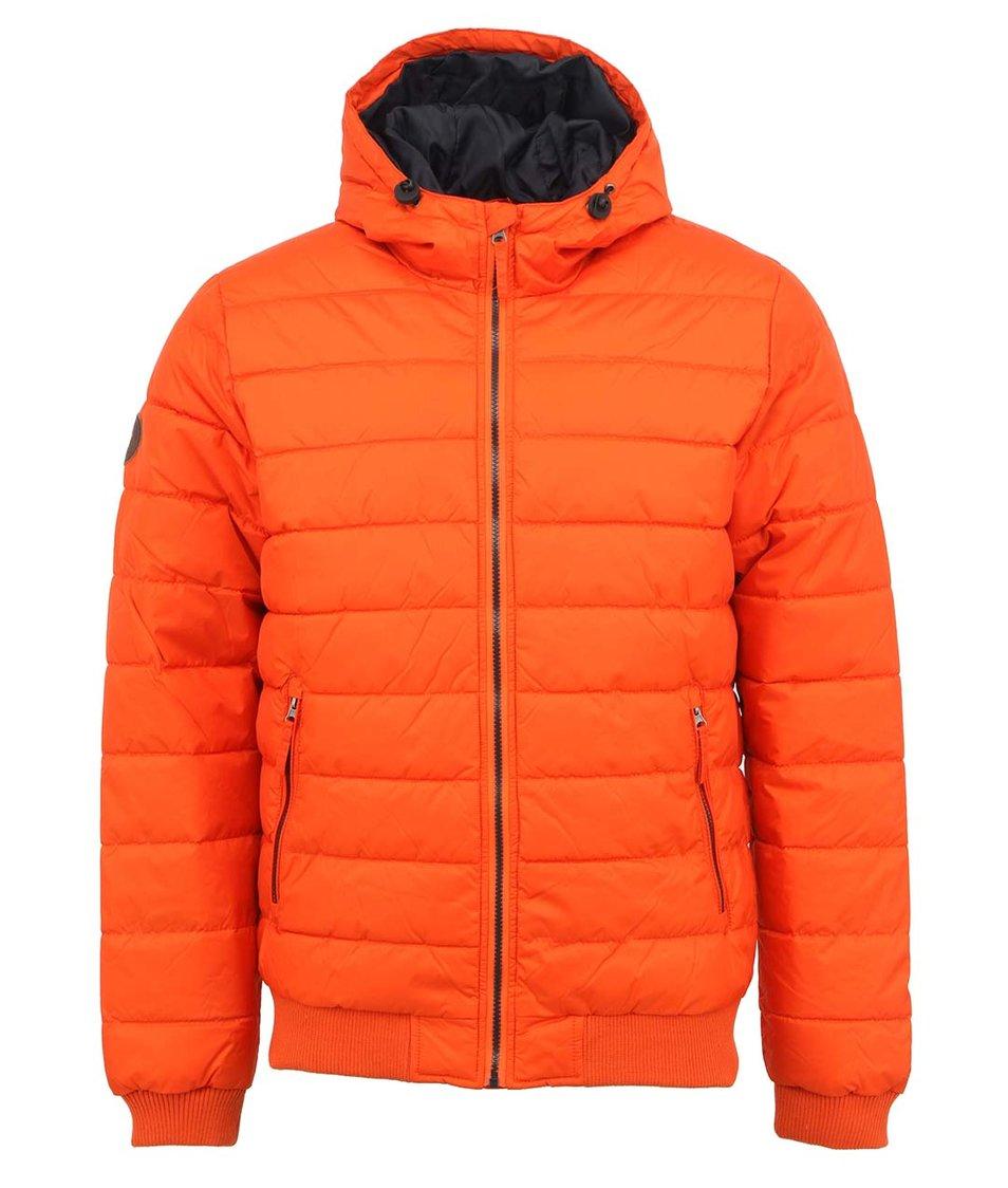 Oranžová bunda s kapucí Shine Original