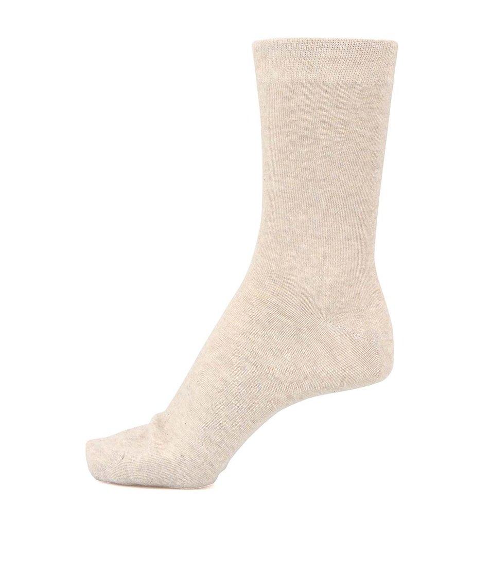 Béžové pánské ponožky Shine Original
