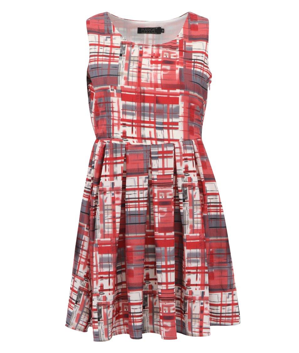 Červené vzorované šaty Pussycat London