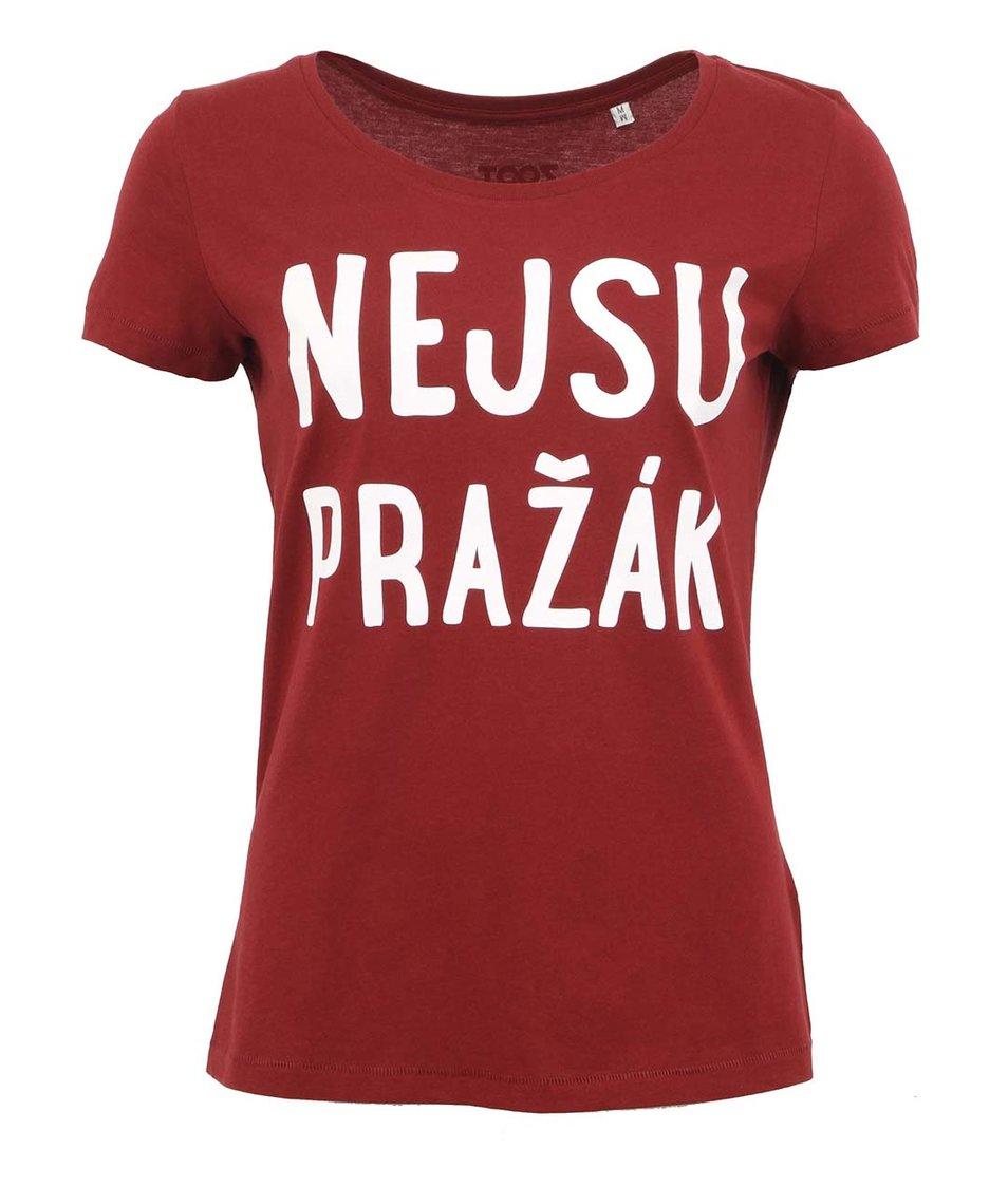 Vínové dámské triko ZOOT Originál Nejsu pražák