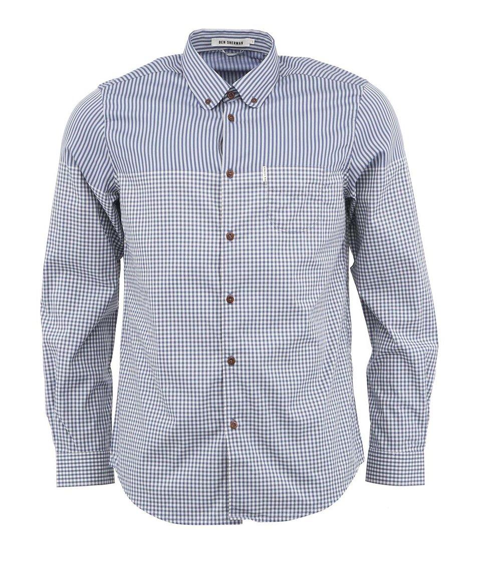 Modrá košile s dvojitým vzorem Ben Sherman