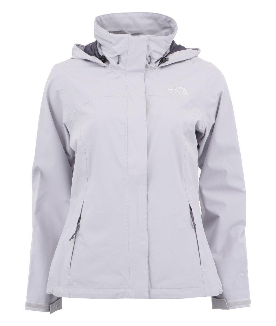 Šedofialová dámská bunda s kapucí The North Face Sangro