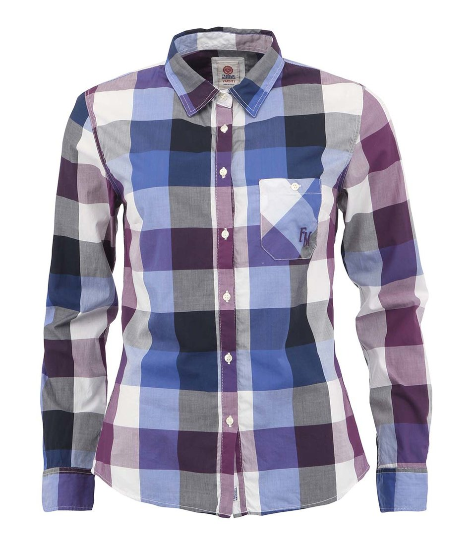 Modro-fialová dámská košile Franklin & Marshall