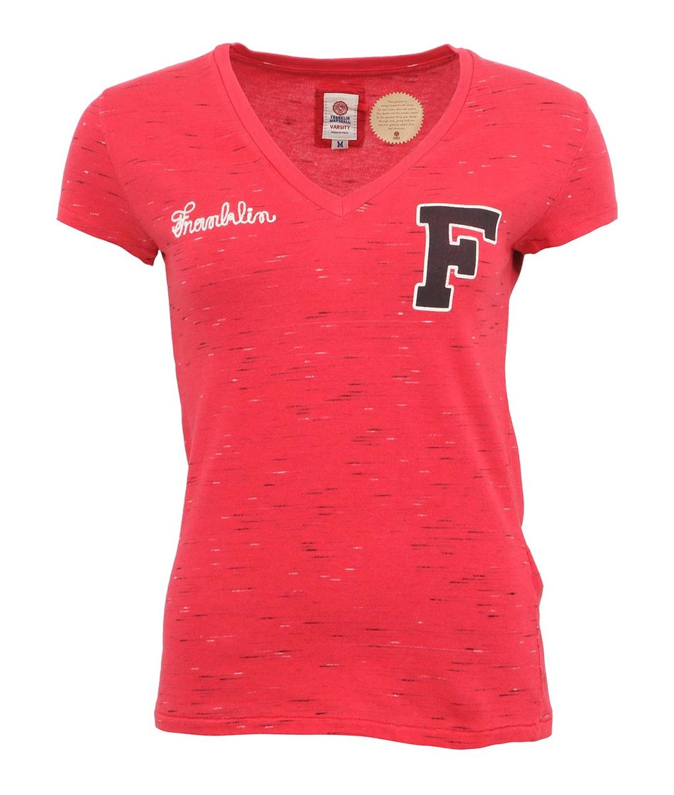 Růžové dámské tričko s krátkým rukávem Franklin & Marshall