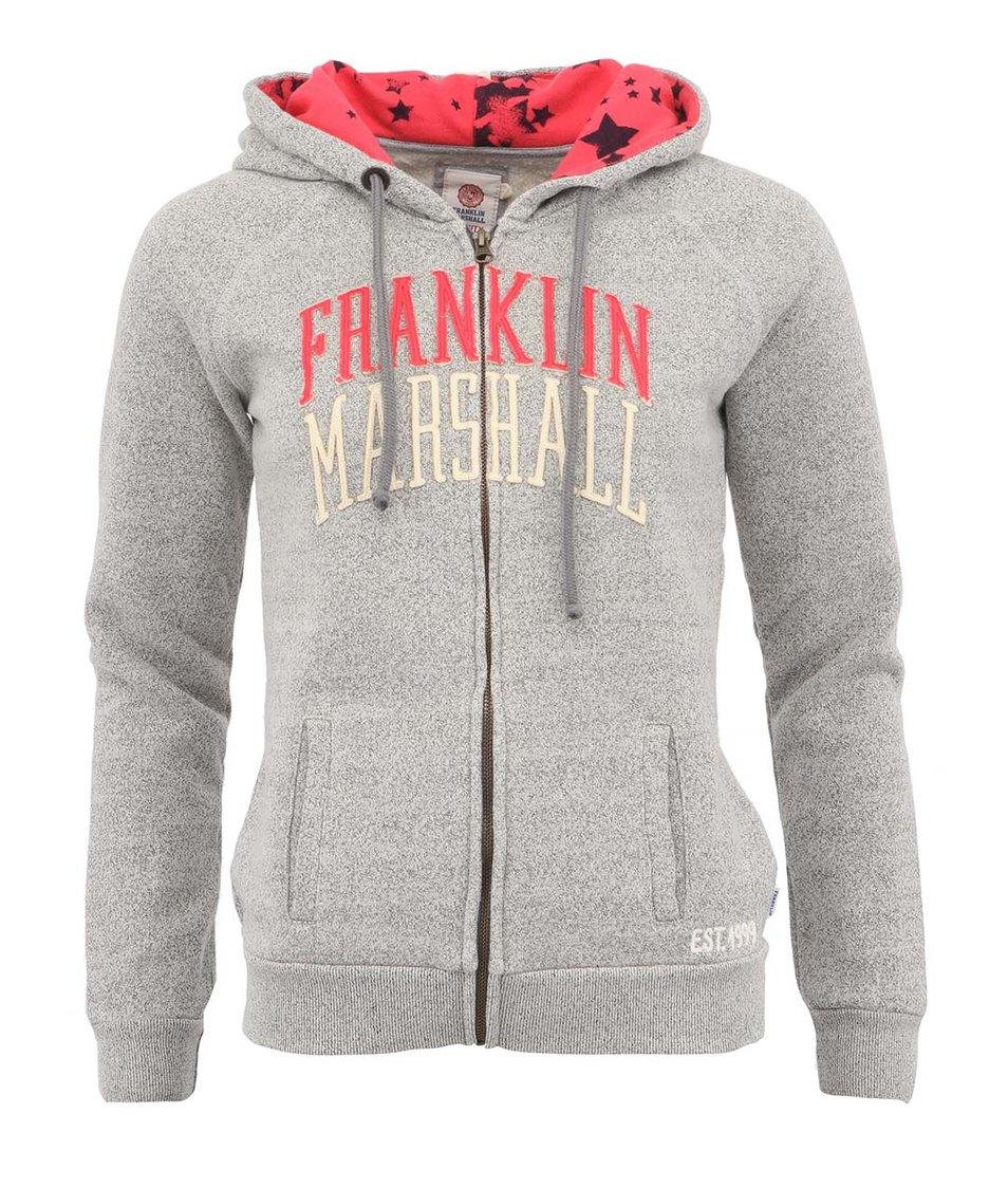 Šedá dámská mikina na zip Franklin & Marshall