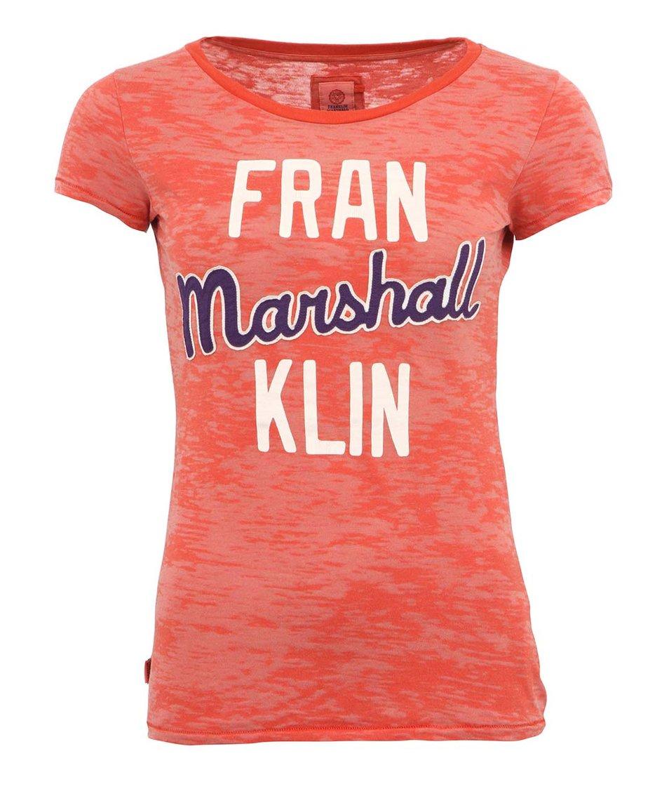 Červené dámské tričko s krátkým rukávem Franklin & Marshall