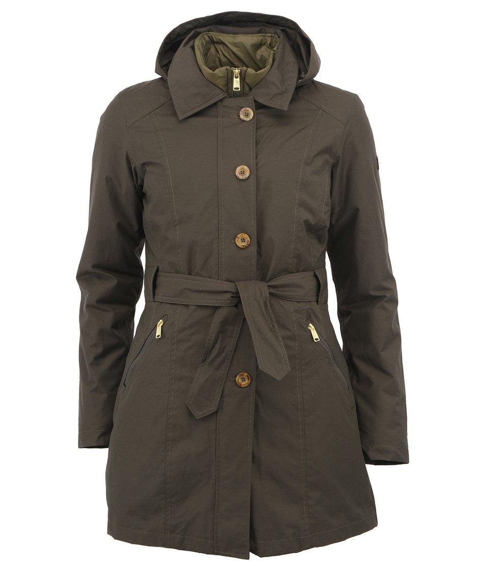 Khaki zelený dámský kabát a bunda 2v1 The North Face Riverdale