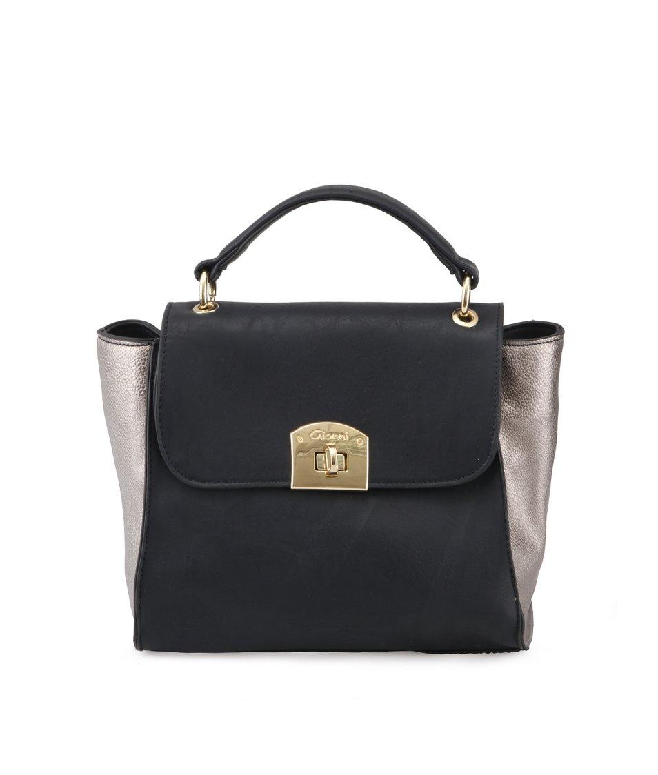 Černá kabelka s metailckými vklady Gionni Makayla