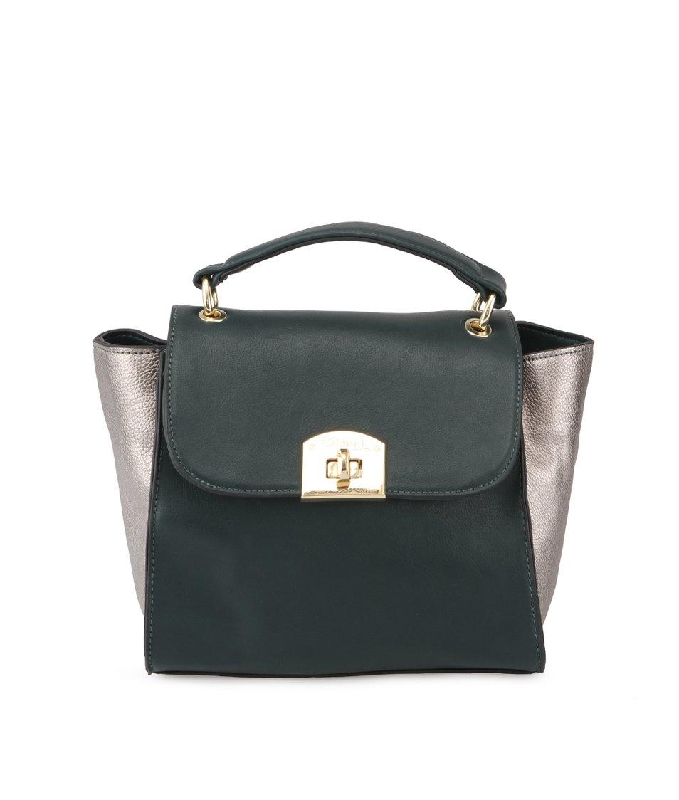 Lahvově zelená kabelka s metalickými vklady Gionni Makayla