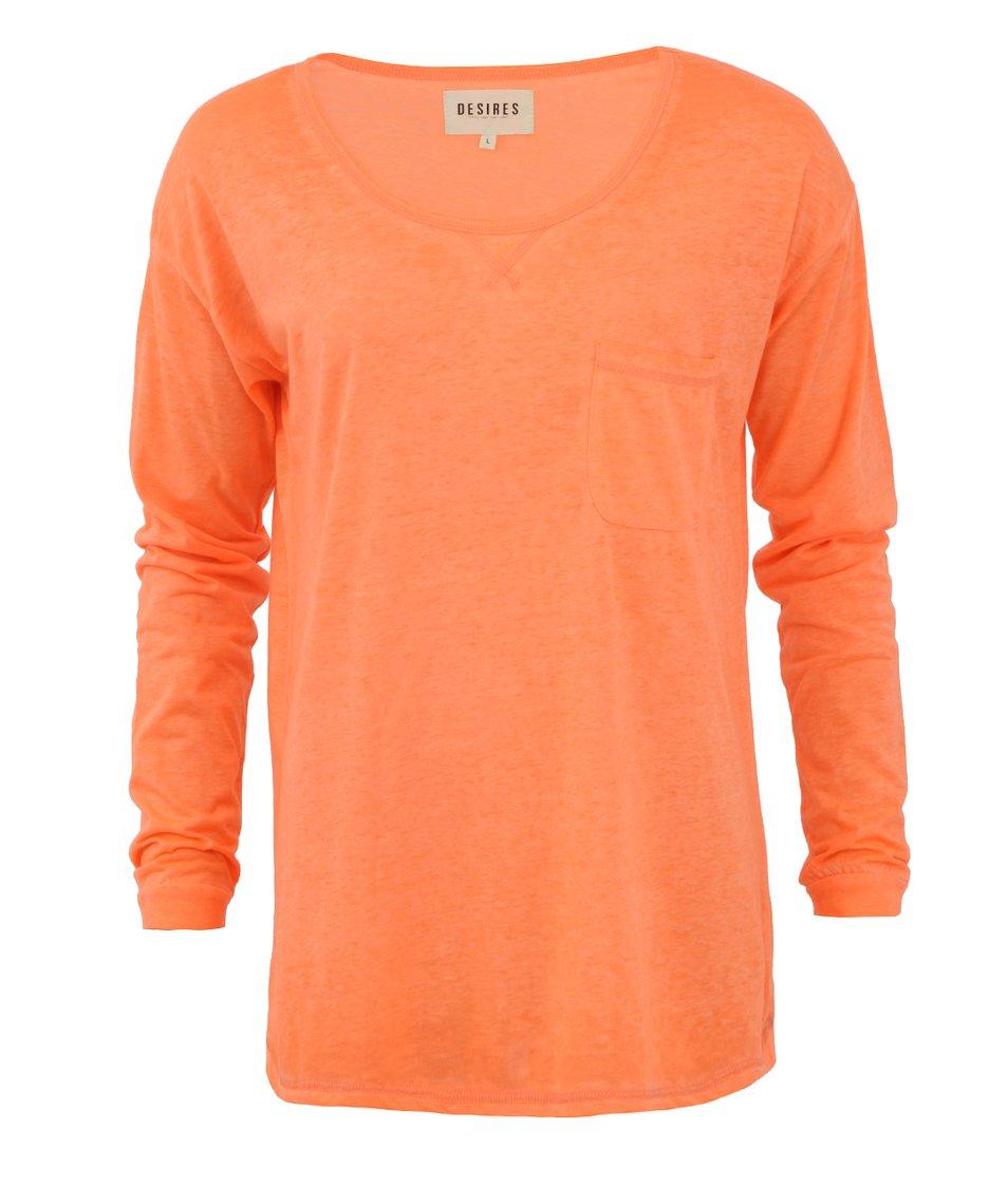 Neonově oranžové tričko s dlouhým rukávem Desires Nada