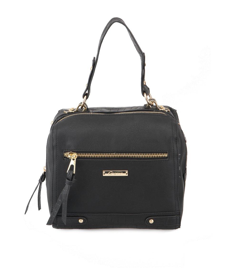 Černá kabelka s krokodýlími šupinkami Gionni Lexie