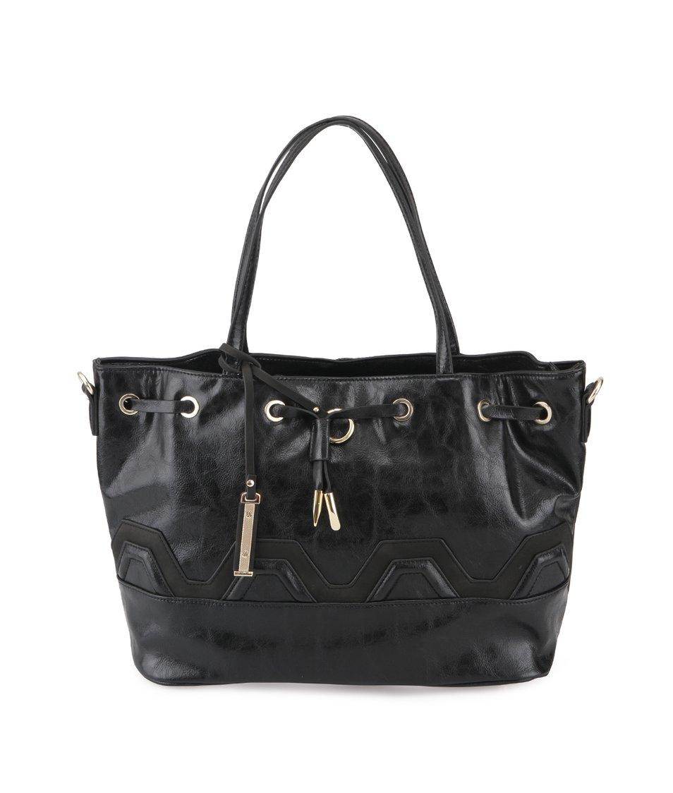 Černá kabelka s proplétáním Gionni Ashley