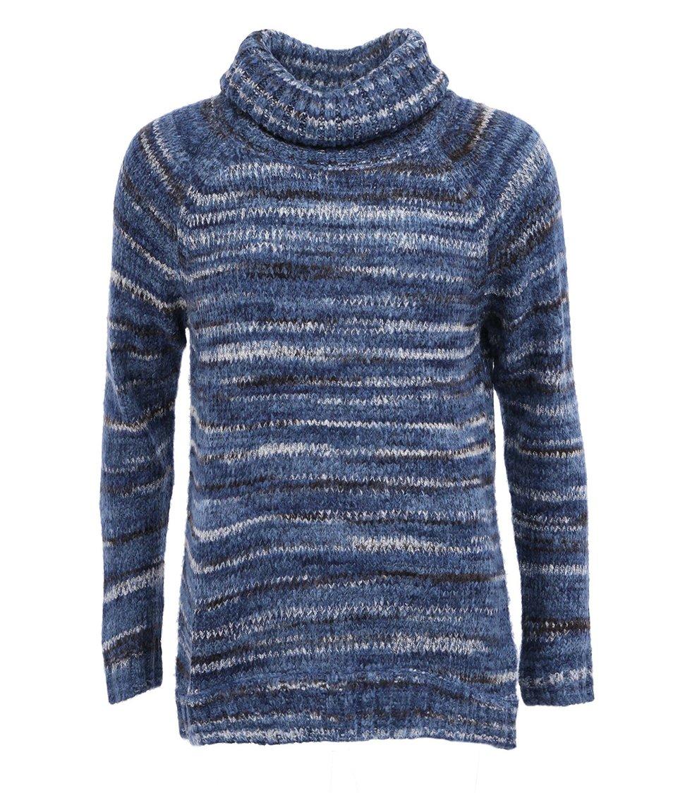 Modrý delší svetr s rolákem Vero Moda Livia