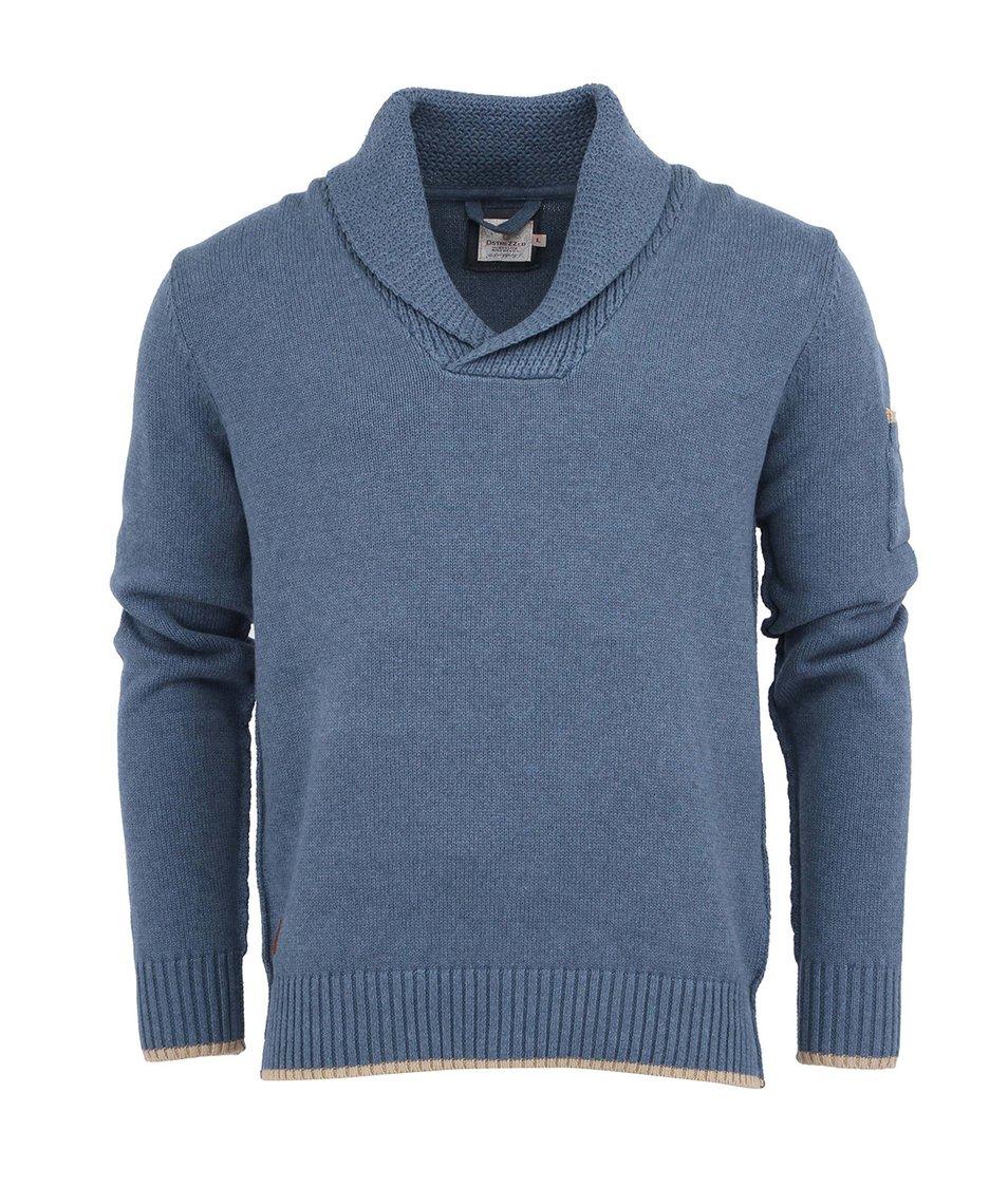 Modrý bavlněný svetr Dstrezzed