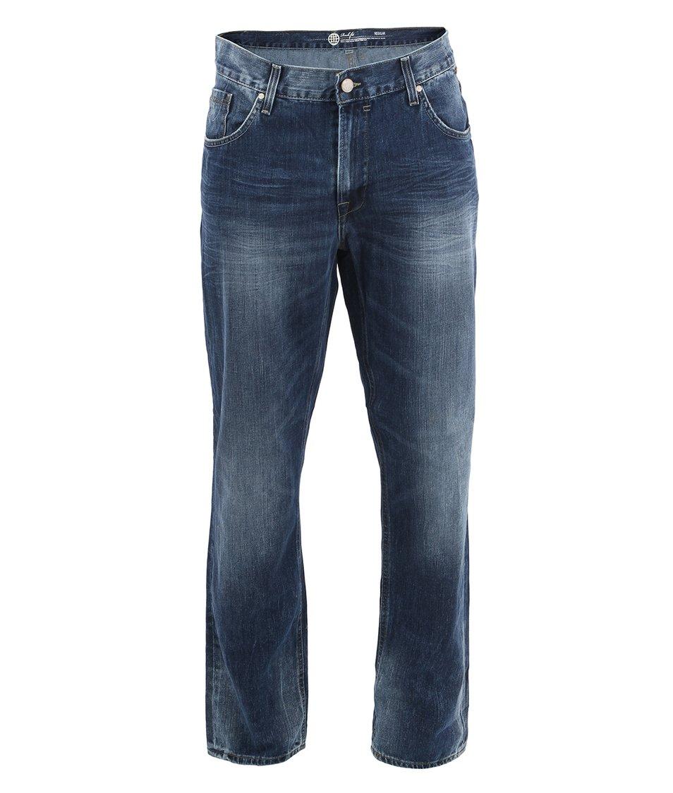 Modré džíny se sepraným efektem Blend Rock