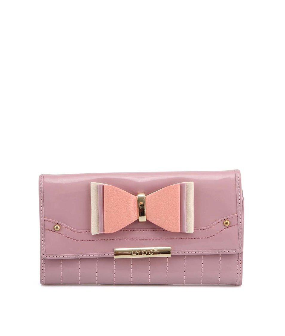 Světle fialová lesklá peněženka s mašličkou LYDC
