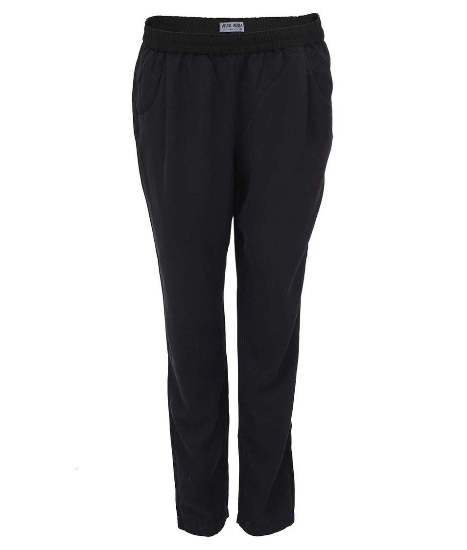 Černé volnější kalhoty Vero Moda Tomorrow