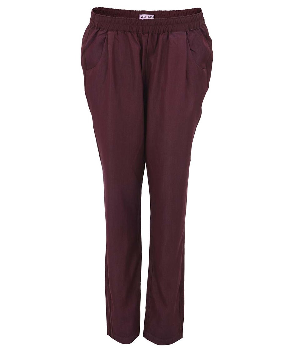 Vínové volnější kalhoty Vero Moda Tomorrow