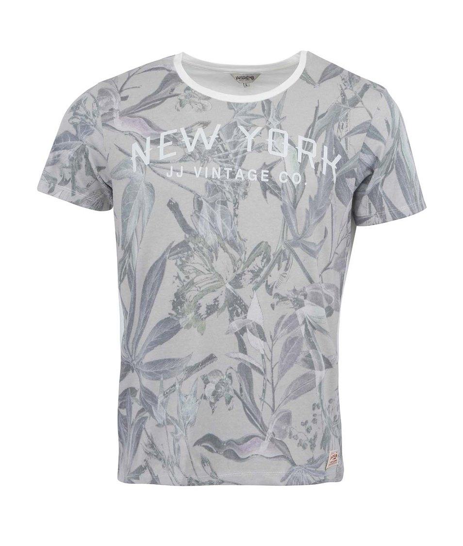 Bílé triko s květinovým potiskem Jack & Jones New Sup