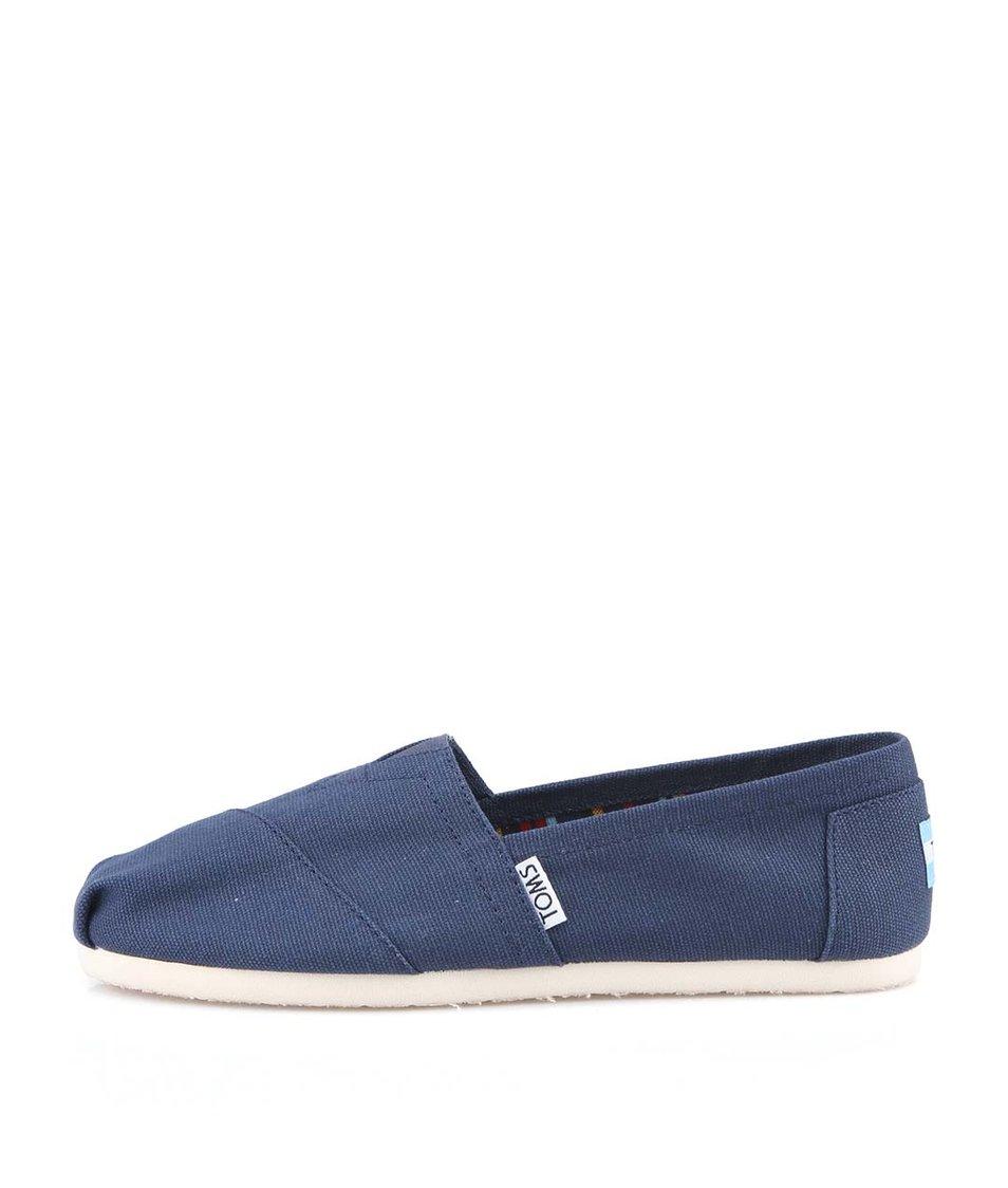 Tmavě modré dámské loafers Toms Canvas Classic