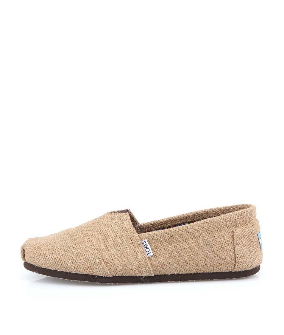 Béžové pánské loafers Toms Burlap