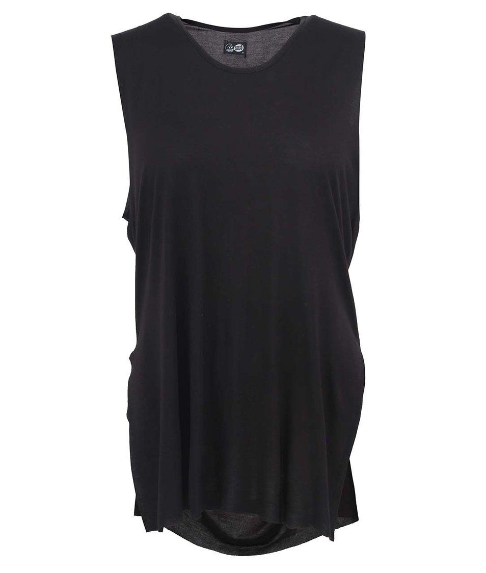 Černé dámské volnější triko bez rukávů Cheap Monday Split
