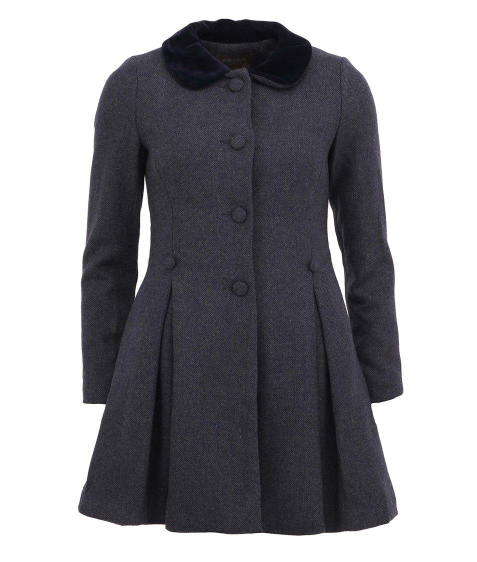 Tmavě modrý vintage kabát Fever London Iris