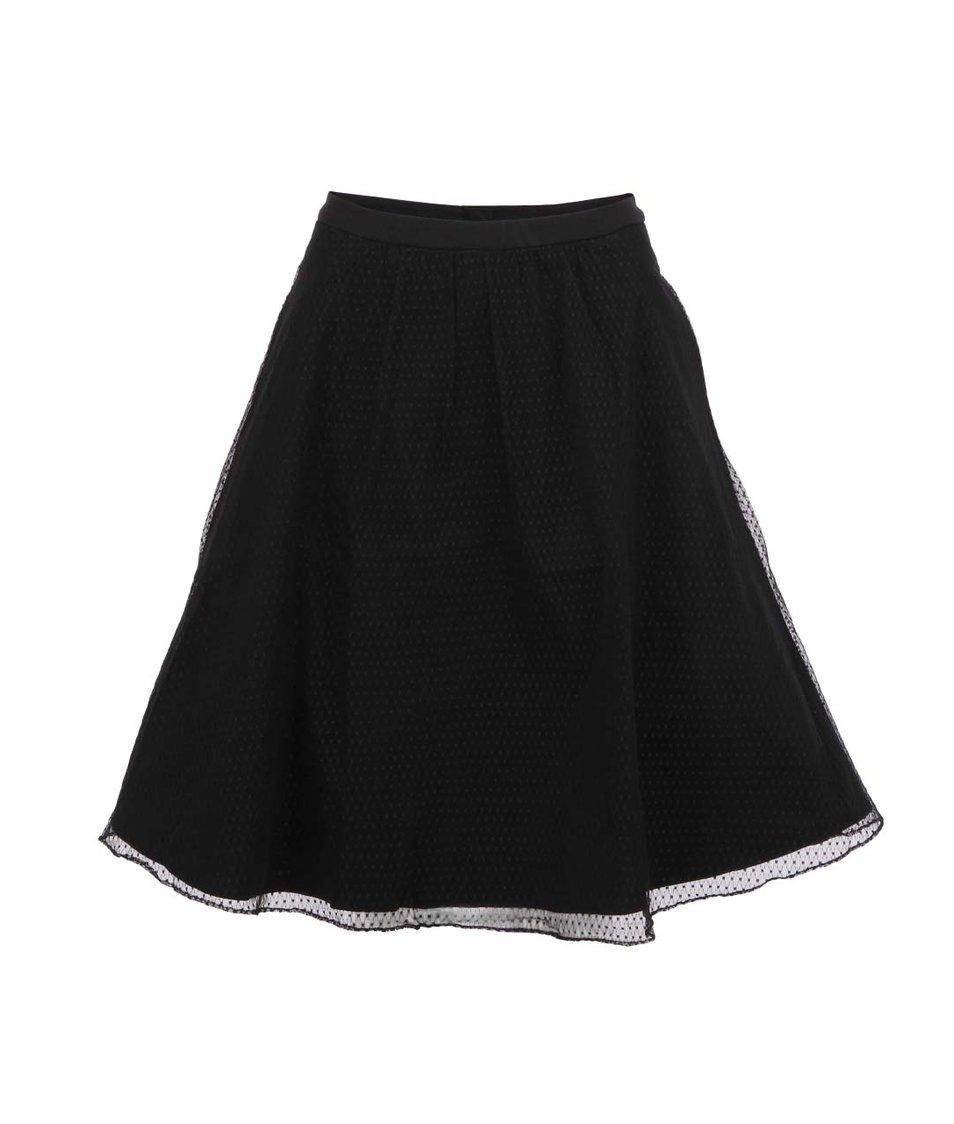 Černá vrstvená sukně Fever London Bella