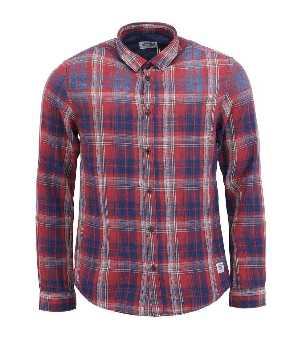 Červená kostkovaná košile Jack & Jones JJCarl