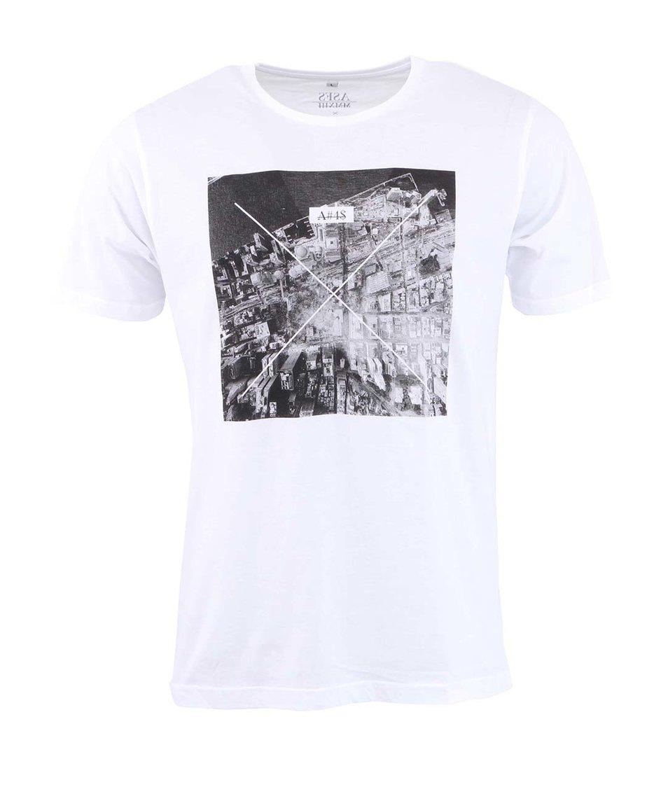 Bílé pánské triko s potiskem ZOOT Lokál Dvojčata