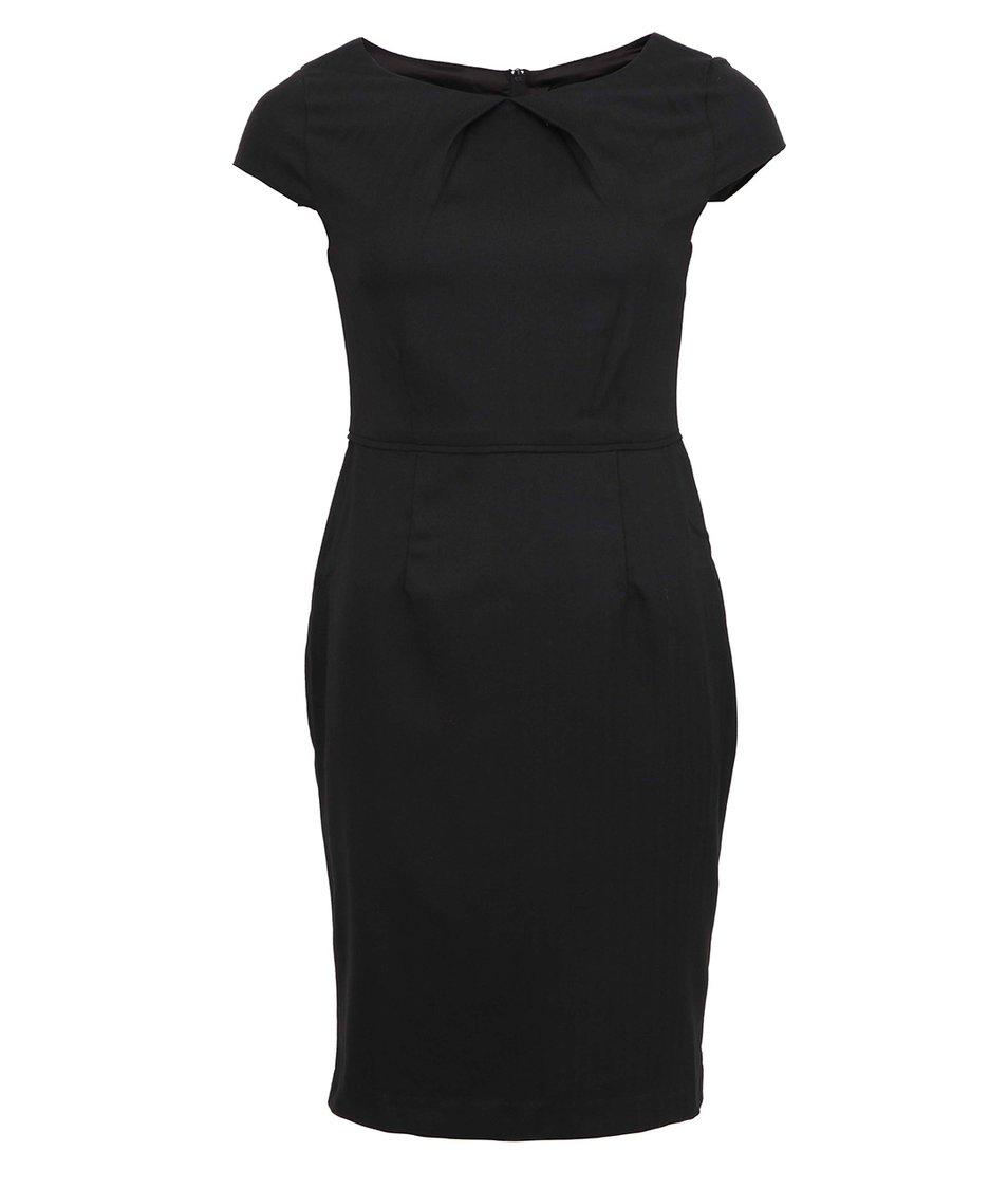 Černé pouzdrové šaty Fever London Canary