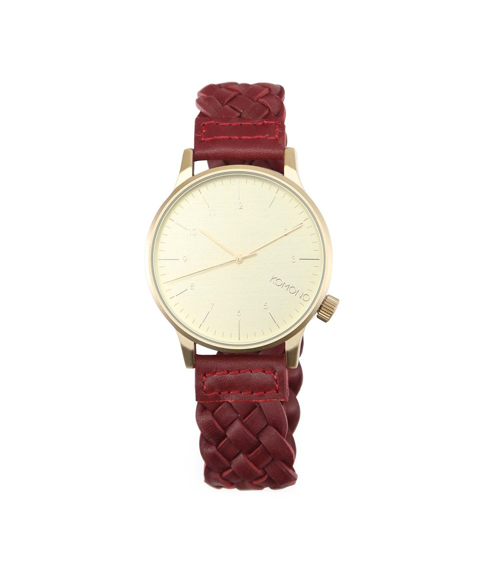 Pánské hodinky Komono Winston Woven Burgundy