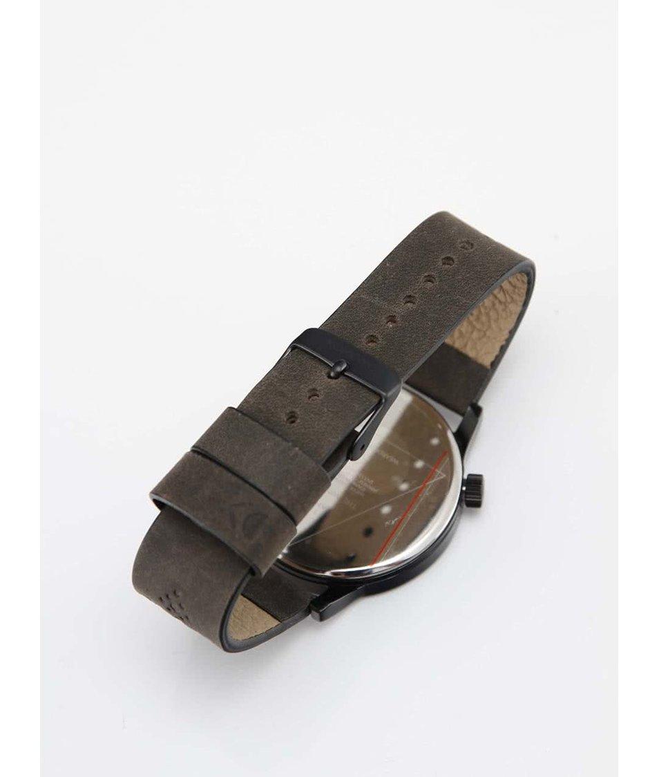 Pánské hodinky Komono Winston Brogue Charcoal