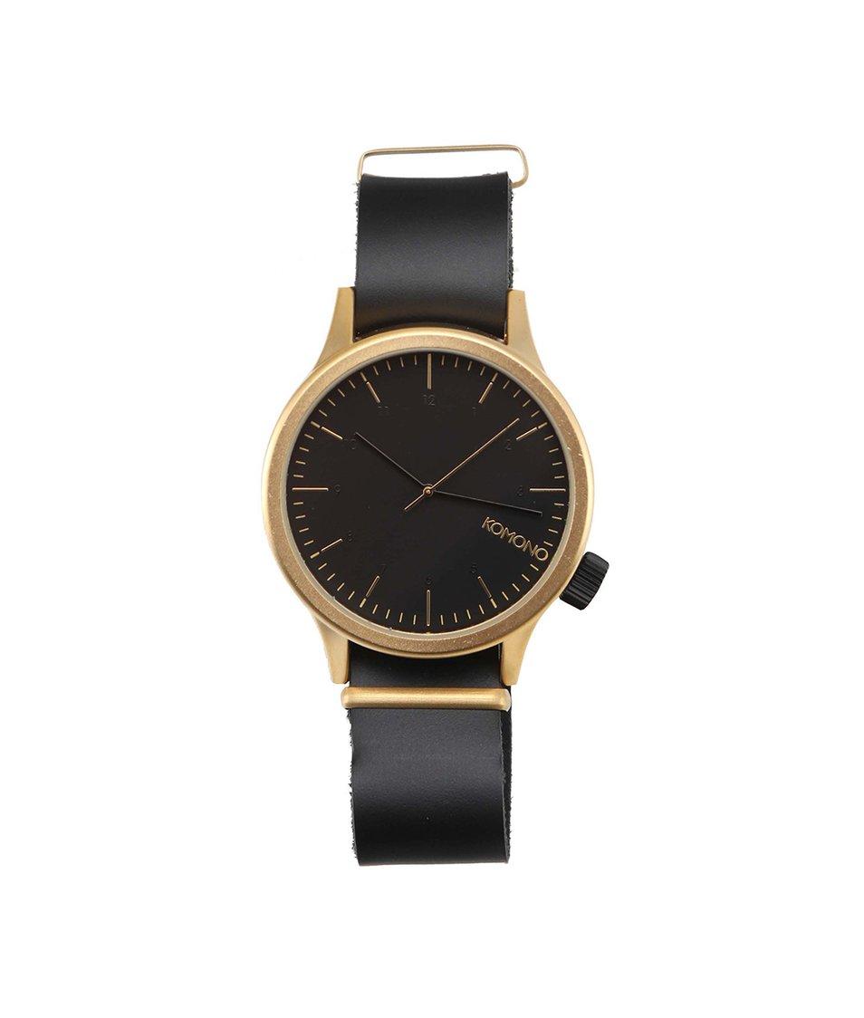 Pánské hodinky Komono Magnus Gold Black