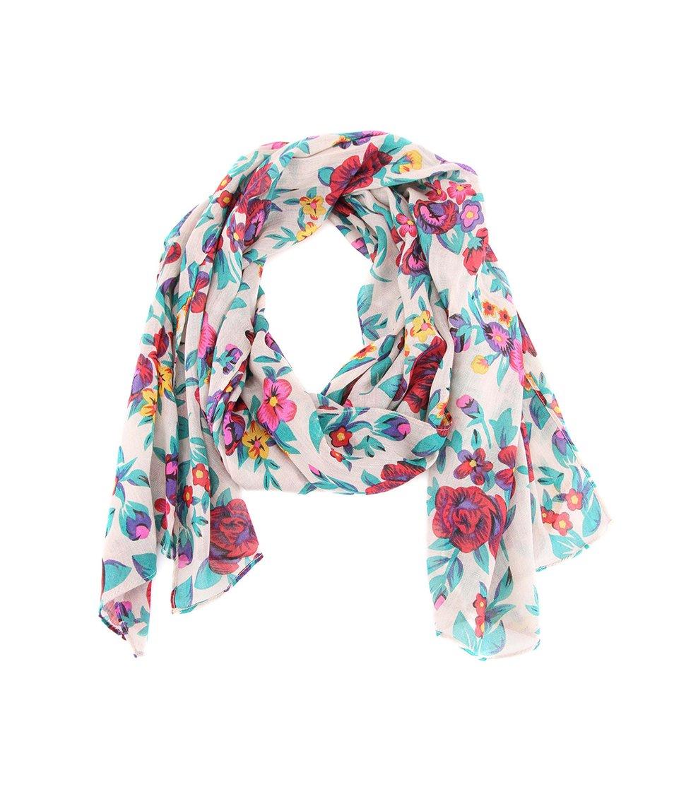 Dlouhý šátek s barevnými květinami Passigatti